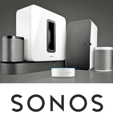 SONOS audio speakers and stereo speakers